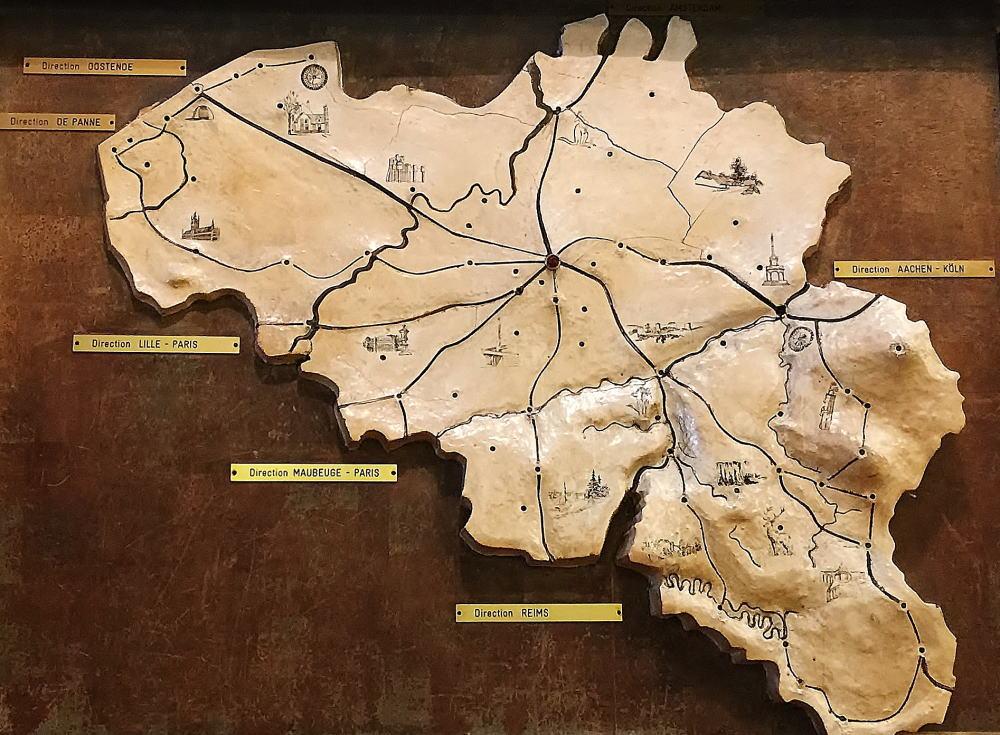 ベルギー 地図