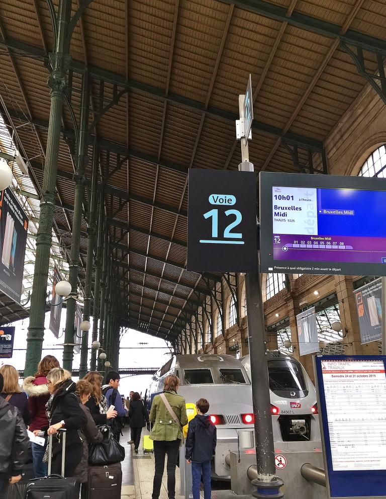 パリからベルギー 電車 行き方