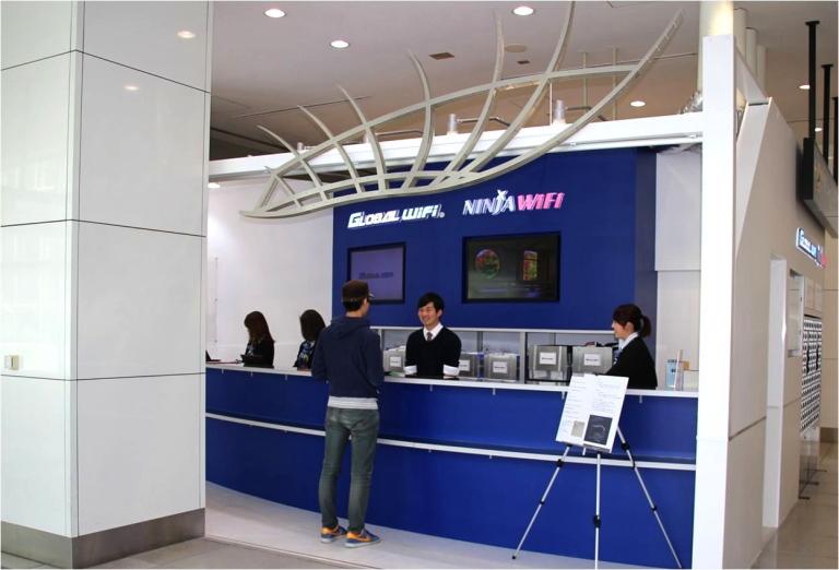 グローバルWifi 羽田空港カウンター場所